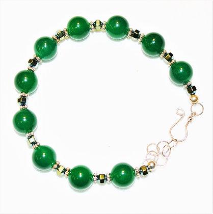 Kelly Green Jade Bracelet