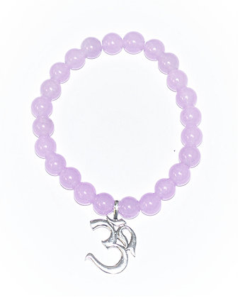 Ohm Charm Stretch Bracelet (Lavender Jade)