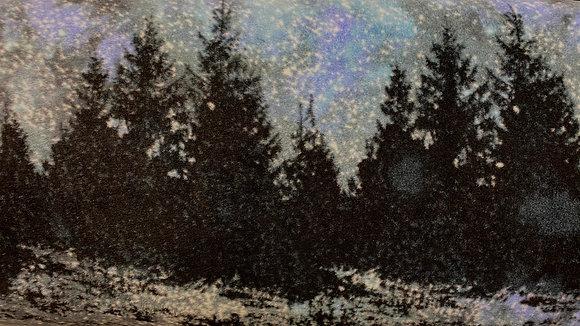 Midnight Forest Oversized Fleece Throw Blanket