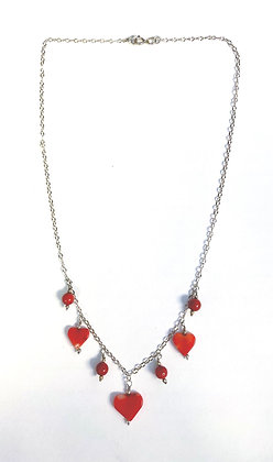 Coral Hearts Necklace