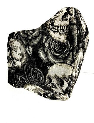 Cotton Mask (Rosy Skulls)