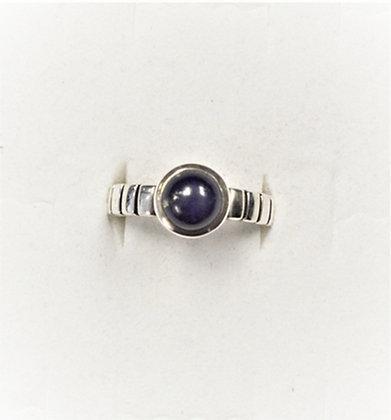 Lapis Ring (Segmented Shank)