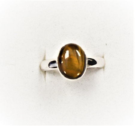 Tigers Eye Ring (Oval)