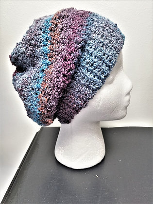 Crochet Multi-Color Slouch Hat