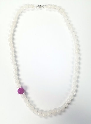 Orchid Dot Necklace