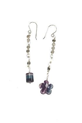 Fluorite Mis-Matched Earrings