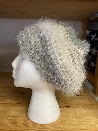 """Crochet Acrylic Mohair Hat """"Fog"""""""