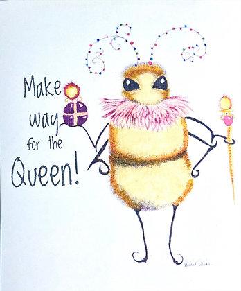 Queen Bee Refrigerator Magnet