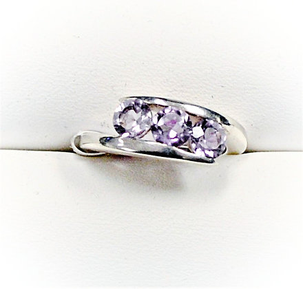 Rose Amethyst Bypass Ring