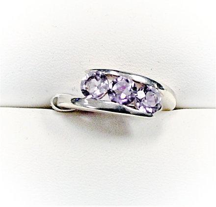 Rose Amethyst Bypass Ring