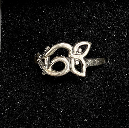 Abstract Owl Ring