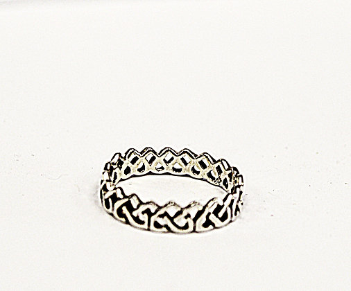 Celtic Knot Endless Heart Eternity Band