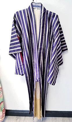 Violet Stripe Vintage Silk Kimono
