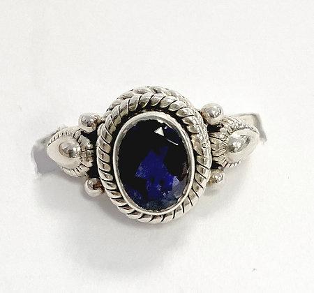 Iolite Byzantine Ring