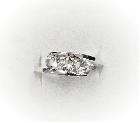 Three Stone Quartz Ring