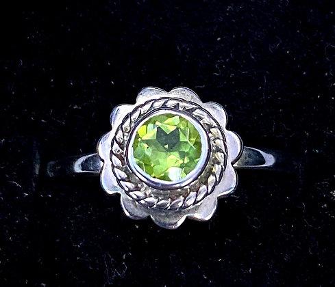 Peridot Lotus Ring