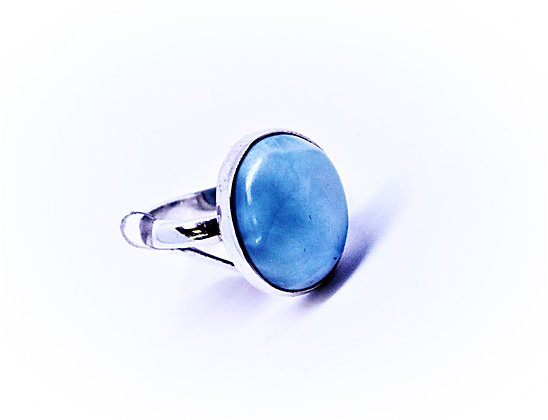 Larimar Solitaire Ring