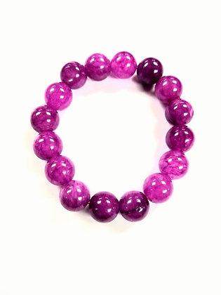 Candy Shop Bracelet:  Grape Chalcedony