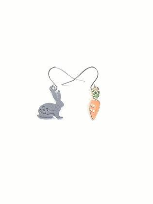 Bunny & Carrot Earrings