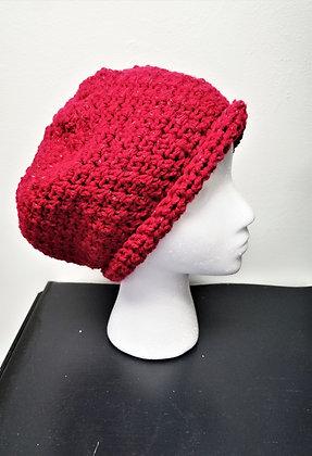Shimmering Red Crochet Hat