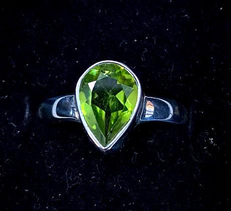 Peridot Pear Ring