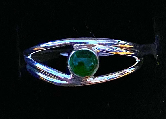 Chrome Diopside Eye Ring