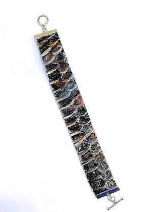 Dragon Scale Leather Bracelet (Copper)