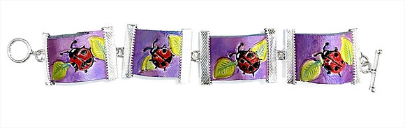 Ladybug Link Bracelet (Leather)