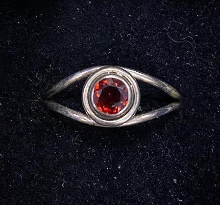 "Garnet ""Eye"" Ring"
