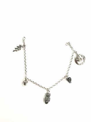 Autumn Charm Bracelet (Sterling Silver)