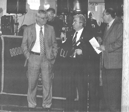 Phil Castellano receiving Brooklyn Engineer of the Year Award.