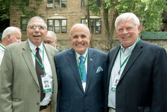 Phil Castellano participated in Manhattan College reunion with other distinguished alumni.