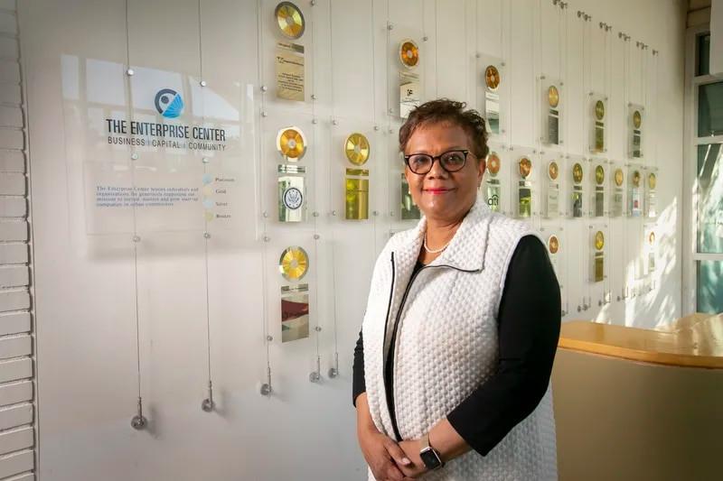 Della Clark, President of The Enterprise Center in Philadelphia. She's raising capital for a $100 million fund investing in Black and Brown entrepreneurs.