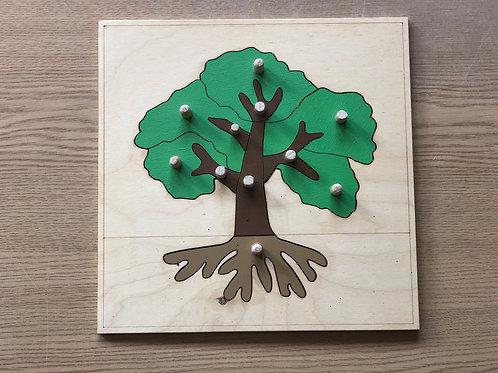 Puzzle Montessori - Drzewko
