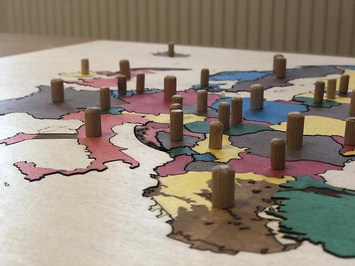 Mapy kontynentów Montessori