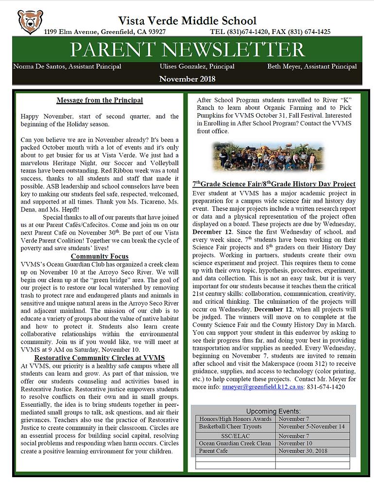 VVMS News Letter Snip.PNG