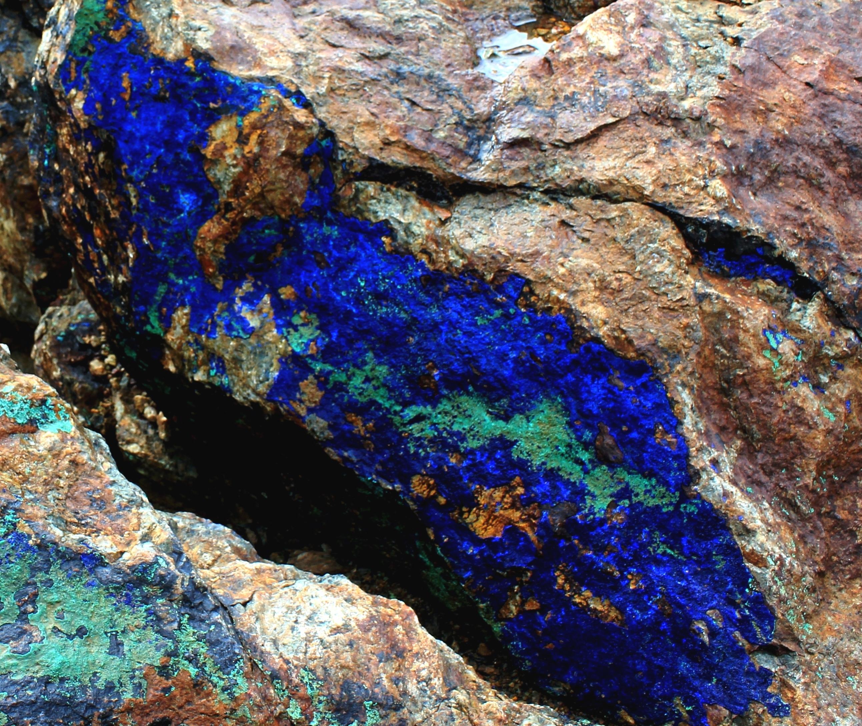 Лазурское месторождение полиметаллов,  азур-малахит(2)
