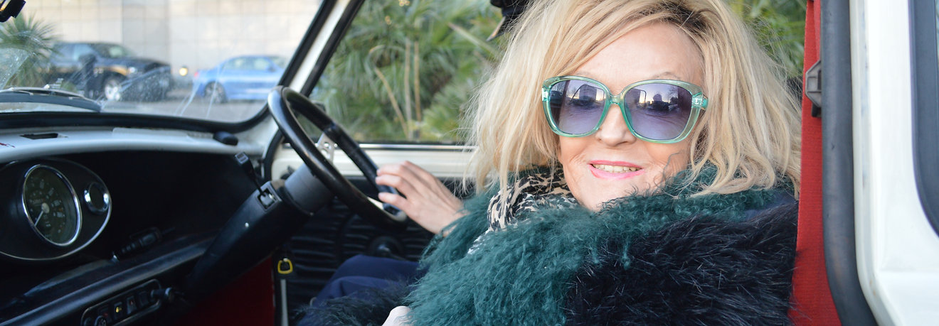 Annie Nightingale wide in 60s mini.JPG