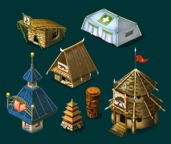 Zoo World 2 Game Buildings