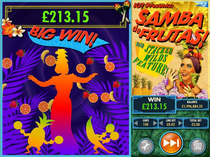 Samba de Frutas! Big Win!