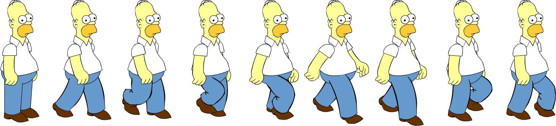 Home Simpson walking