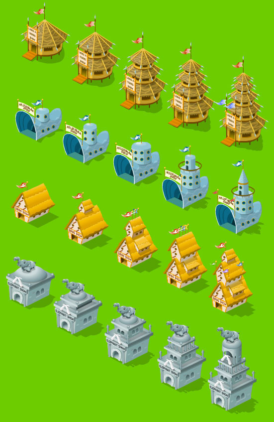 Zoo World Game Buildings