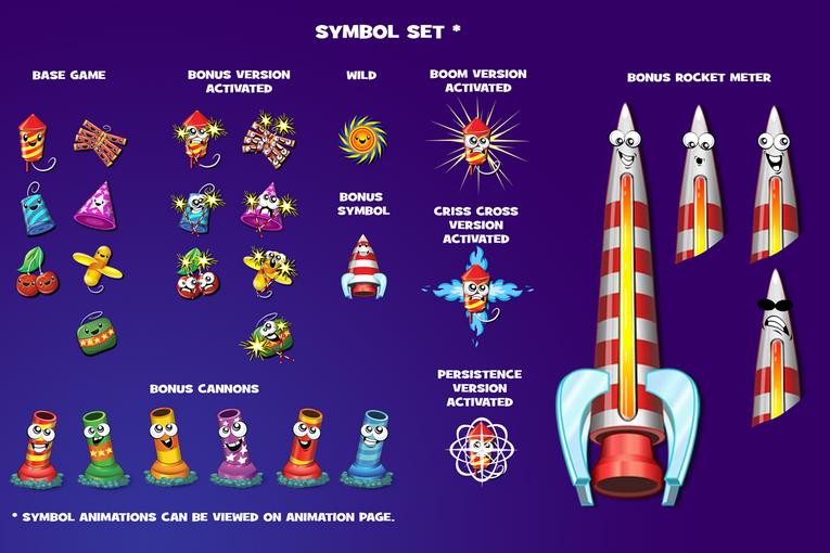 Fantastic Fireworks! Symbols Set