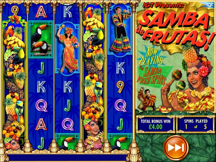 Samba de Frutas! Bonus Game