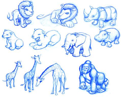 Zoo World 2 Animal Sketches