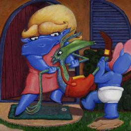 """Thaddeus Pippin Drops In"" Sample Illustration"