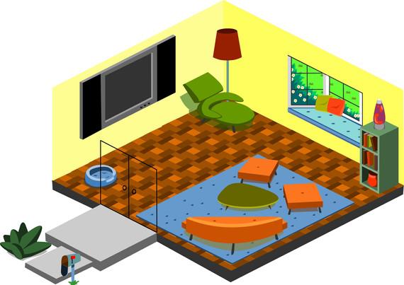 Isometric Living Room Prototype