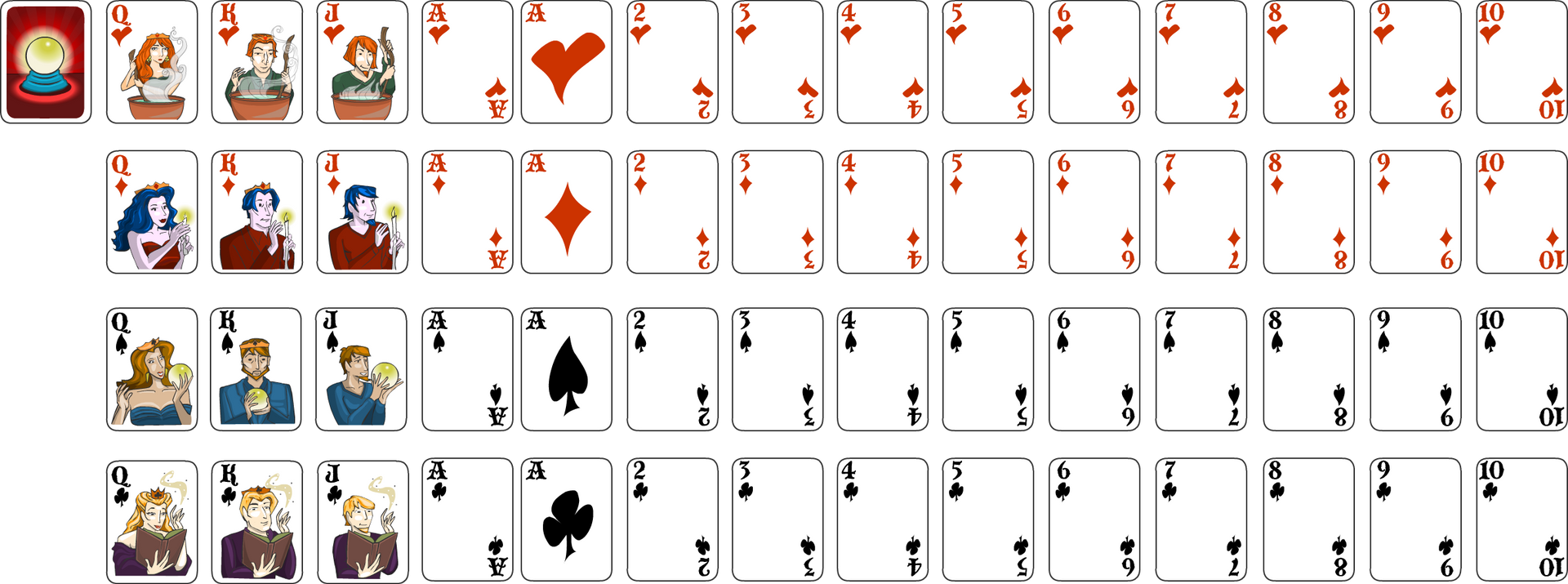"""""""Charmed"""" Solitaire Card Art"""