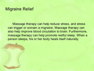 Massage Therapy Can Help To Relieve Headaches