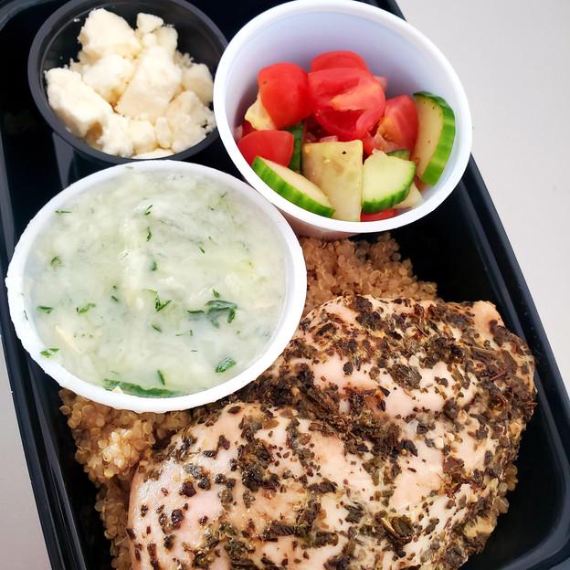 Greek Chicken Quinoa Power Bowl